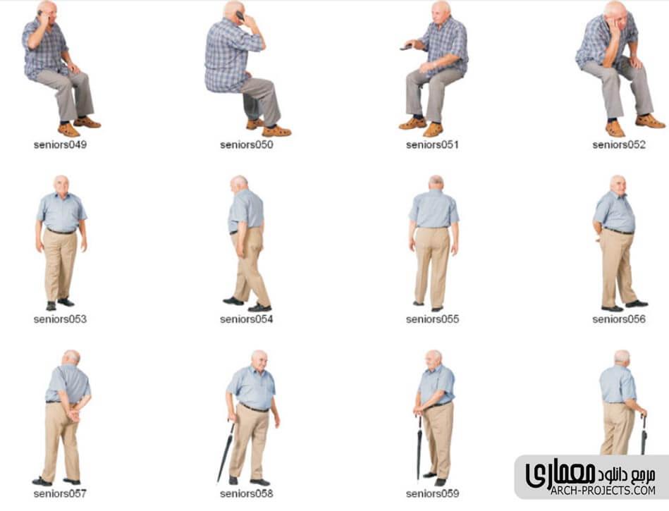 پرسوناژ سالمندان و افراد معلول