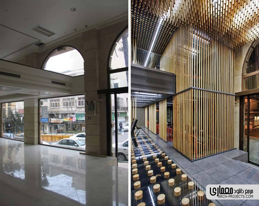 طراحی داخلی رستوران چوجی