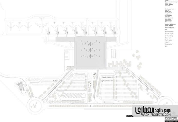 نمونه پلان فرودگاه