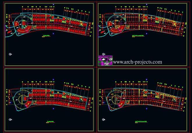 دانلود پلان ساختمان اداری-تجاری