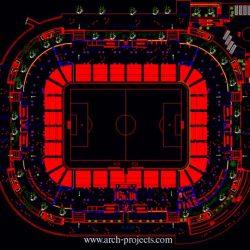 دانلود پلان استادیوم فوتبال