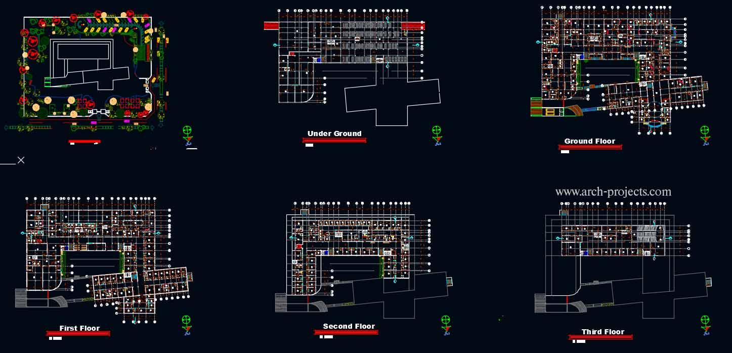 دانلود پروژه طراحی بیمارستان+پوستر
