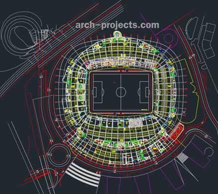 دانلود رایگان پلان استادیوم