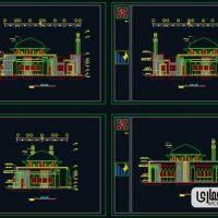 دانلود پلان مسجد
