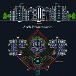 پلان مجتمع مسکونی – پروژه طرح 5