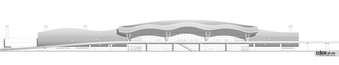 طراحی نمای فرودگاه