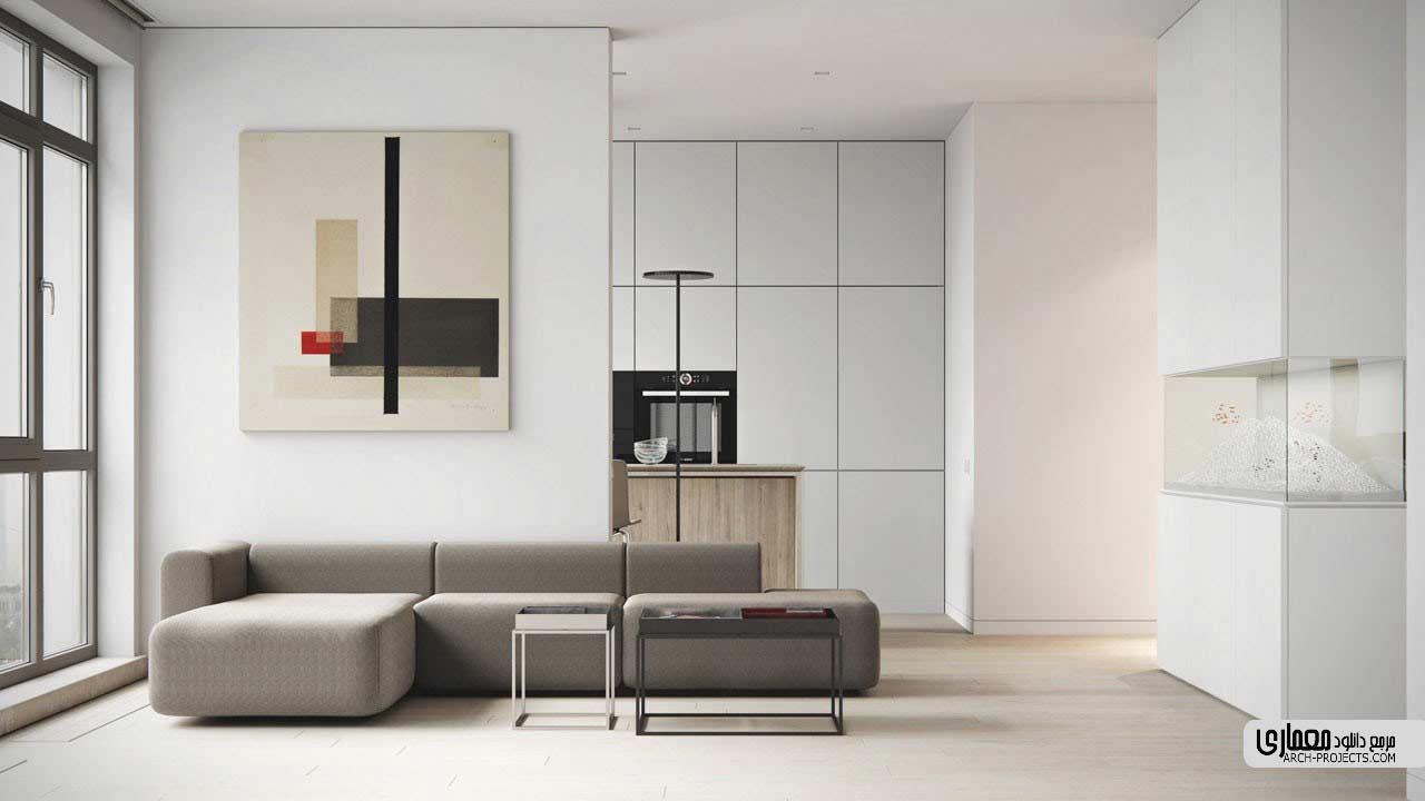 طراحی آپارتمان مینیمالیستی