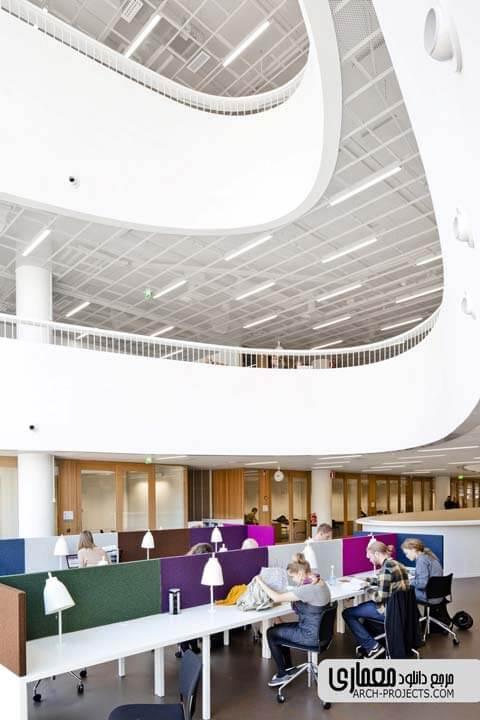 نمونه موزدی طراحی کتابخانه