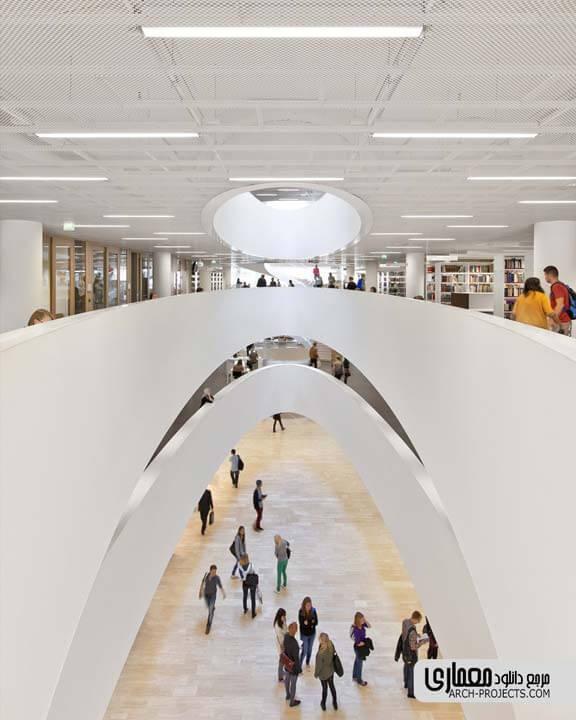 نمونه طراحی طراحی کتابخانه
