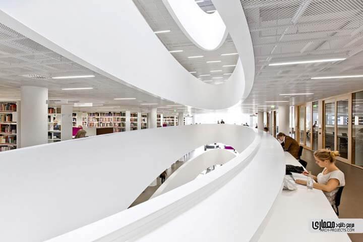 دکوراسیون کتابخانه مرکزی دانشگاه هلسینکی