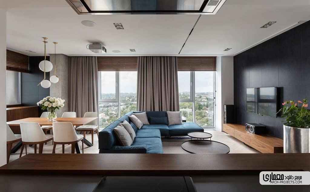 تبدیل دو آپارتمان به یک آپارتمان