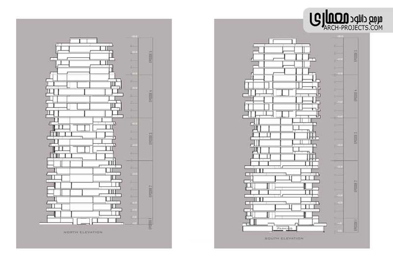 پلان برج مسکونی