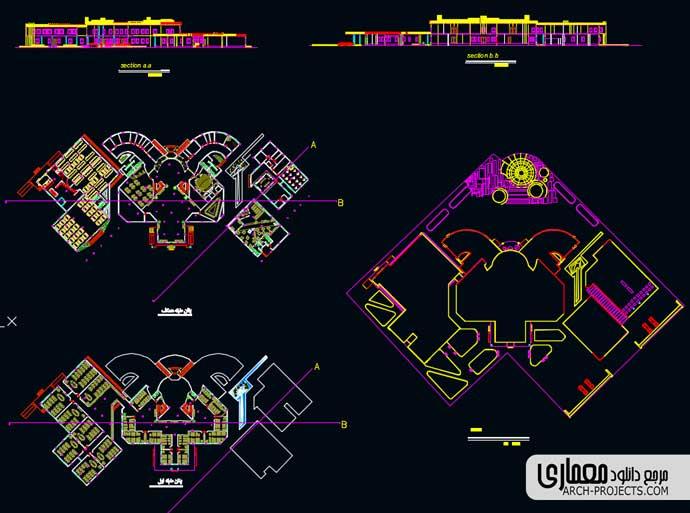 پلان دانشکده معماری
