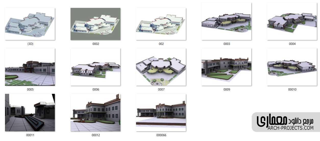 سه بعدی پروژه های معماری