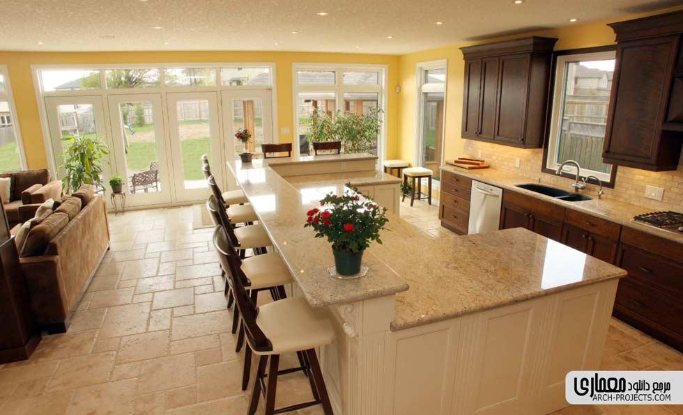 طراحی اپن آشپزخانه