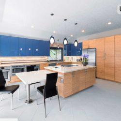 3 آشپزخانه دلگشا با کابینت های راک وود