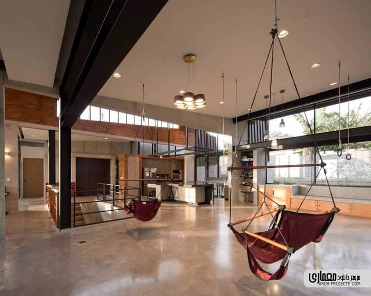 معماری داخلی خانه مسکونی Murray Music