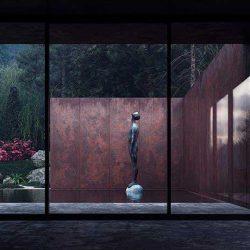 طراحی زیبای خانه رز در بالای کوهستان های اوکراین
