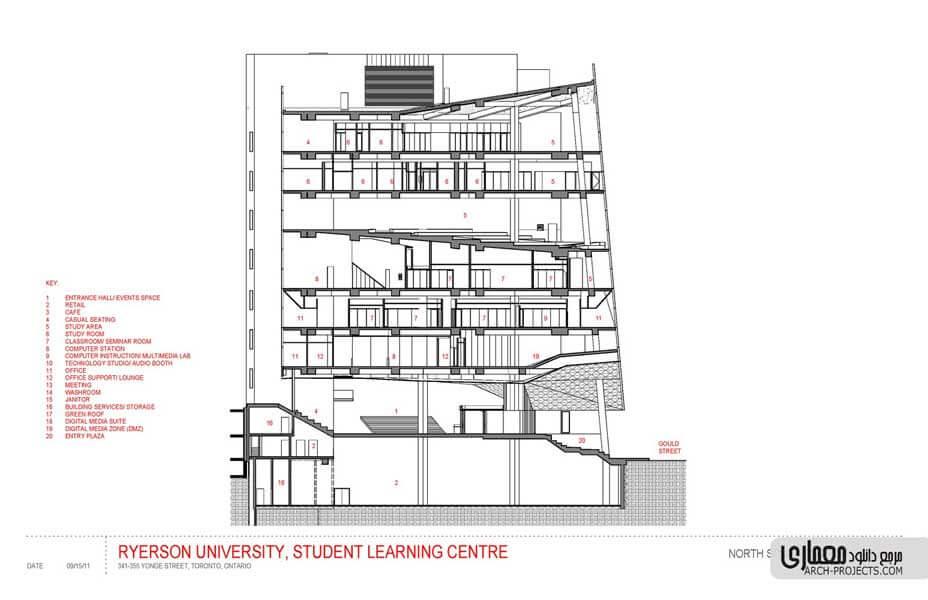 طراحی مرکز آموزشی دانشجویی دانشگاه Ryerson