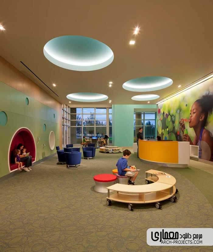 طراحی بیمارستان کودکان Nemours