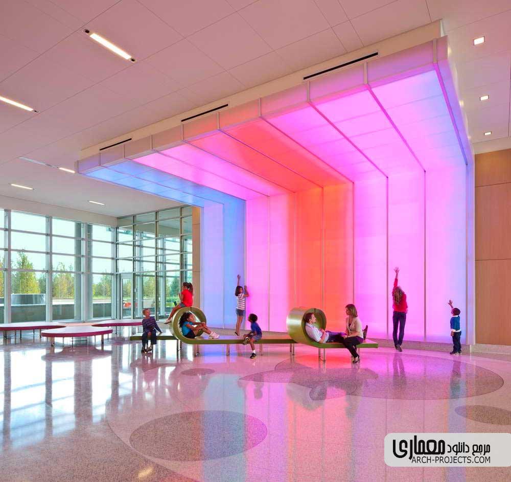 طراحی داخلی بیمارستان کودکان
