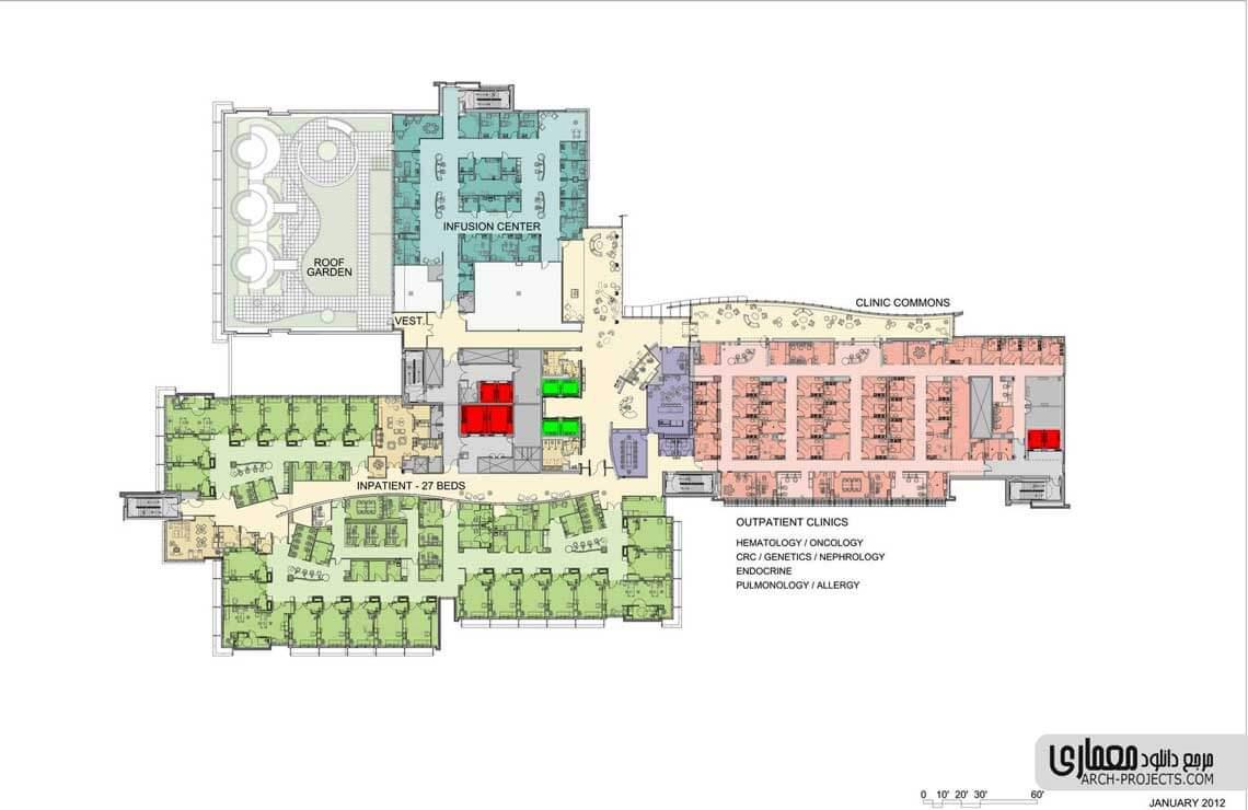 نمونه طراحی بیمارستان کودکان