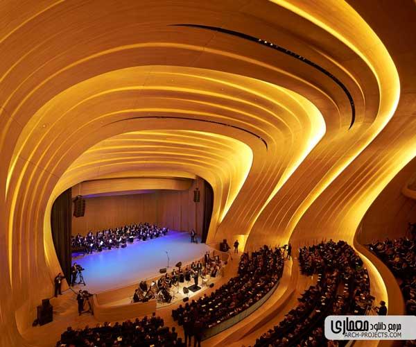 طراحی داخلی مرکز فرهنگی حیدر علی اف
