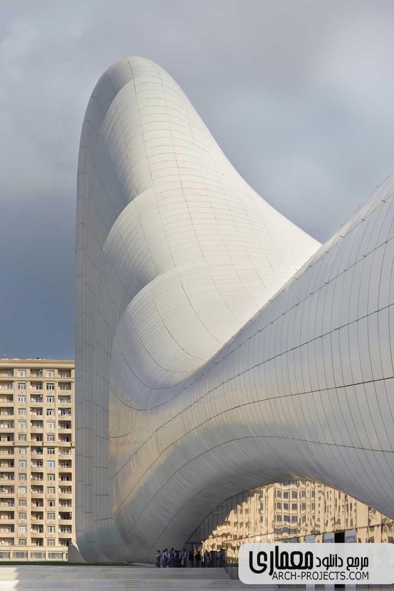 طراحی مرکز فرهنگی حیدر علی اف