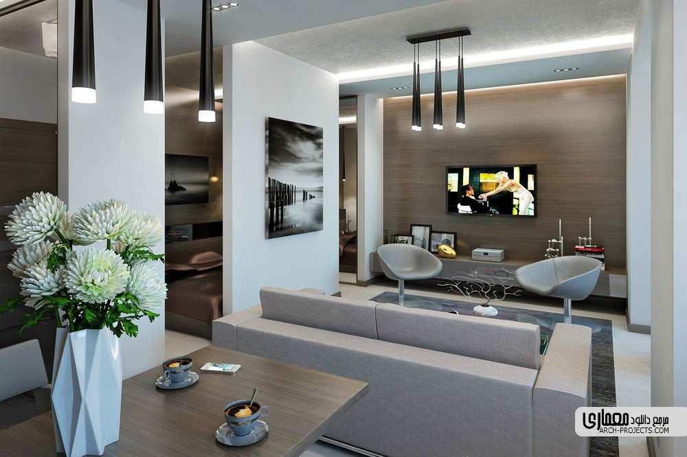 طراحی آپارتمان برای زن و مرد جوان