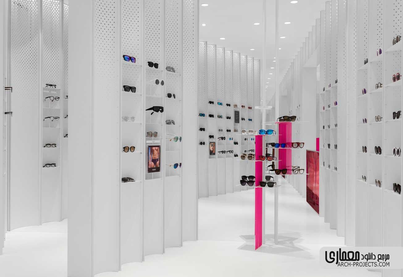 طراحی فروشگاه عینک N3ON