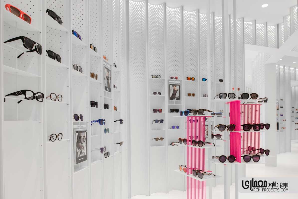 طراحی فروشگاه عینک