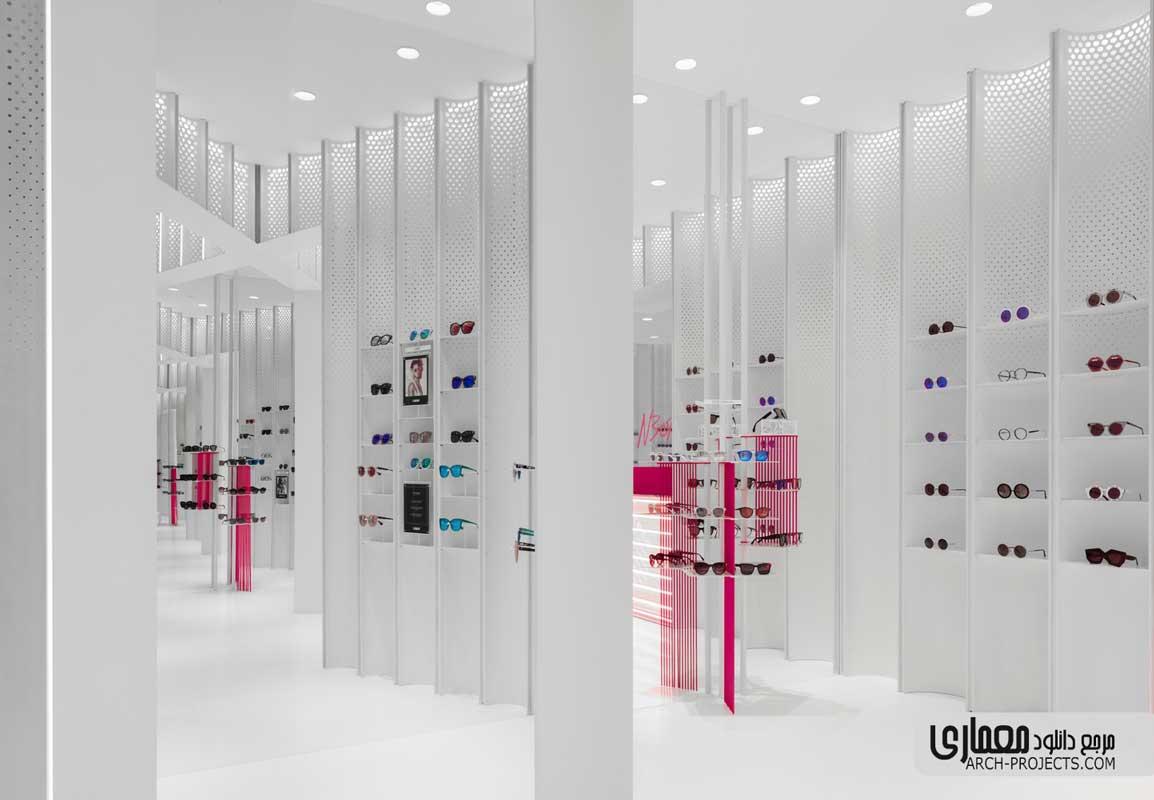 طراحی فروشگاه عینک آفتابی