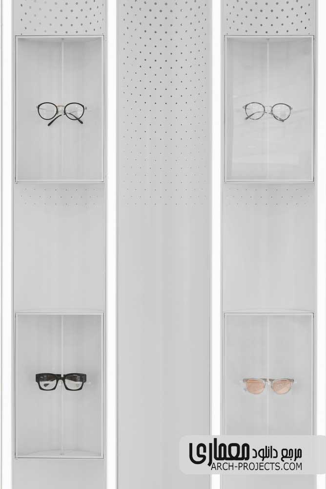 طراحی داخلی فروشگاه عینک آفتابی