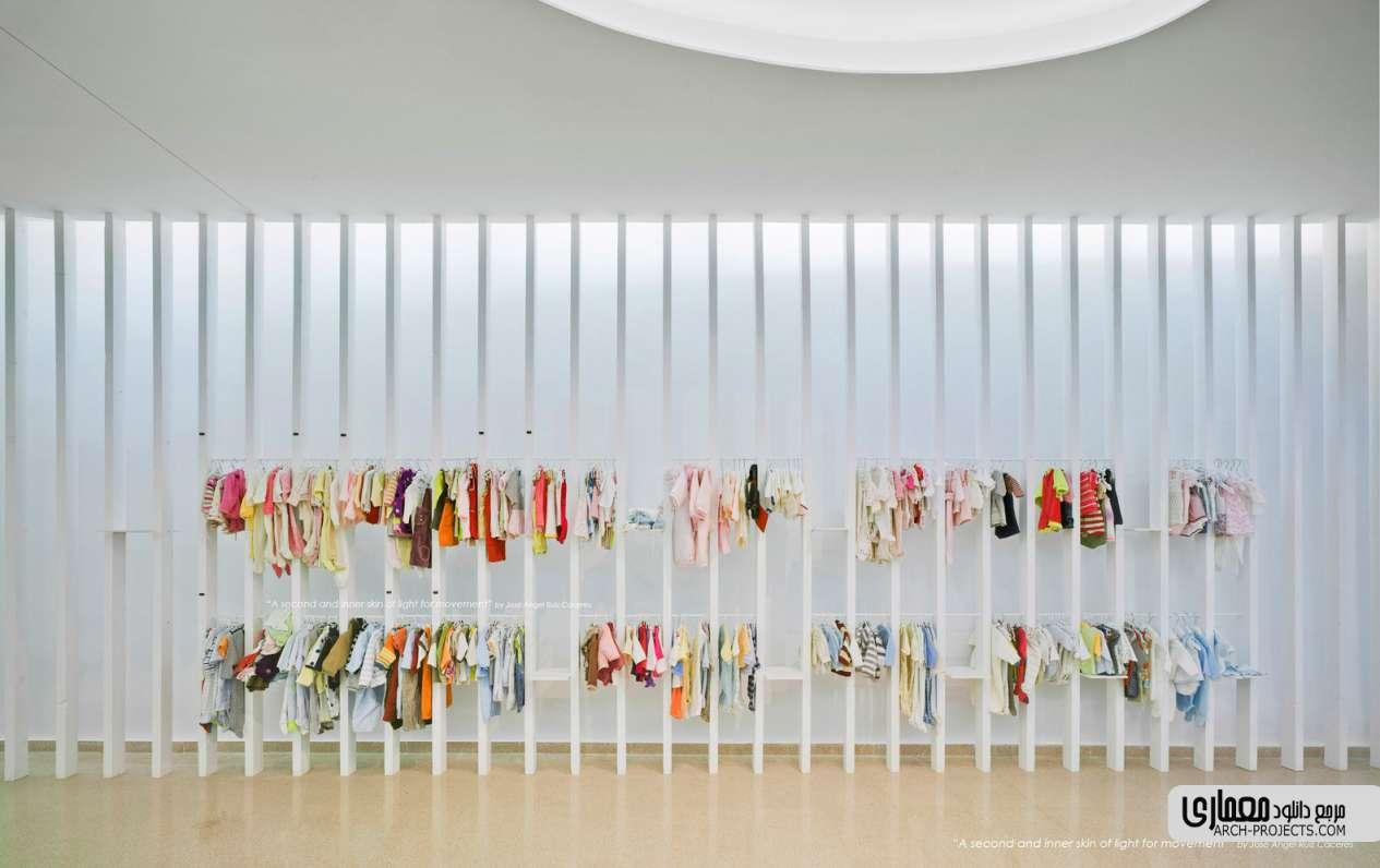 معماری داخلی فروشگاه لباس کودکان