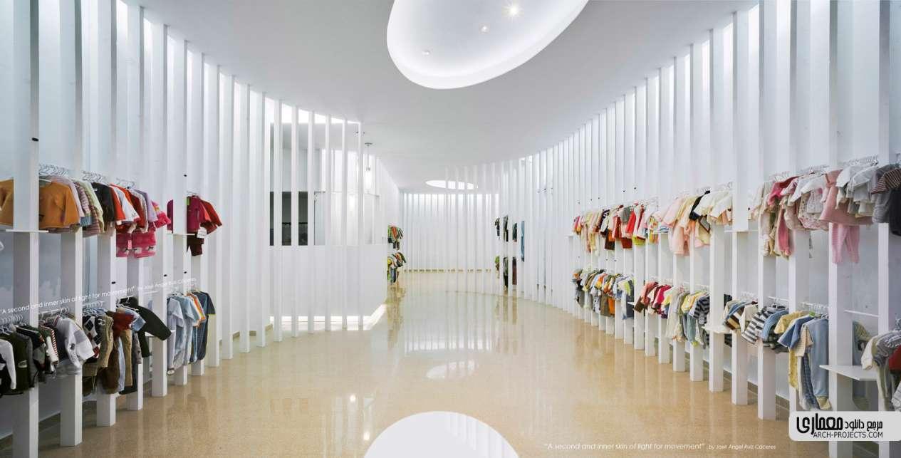 طراحی داخلی فروشگاه لباس کودکان