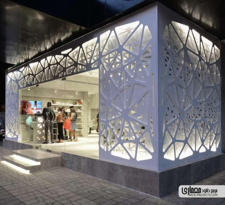 طراحی ویترین فروشگاه کفش