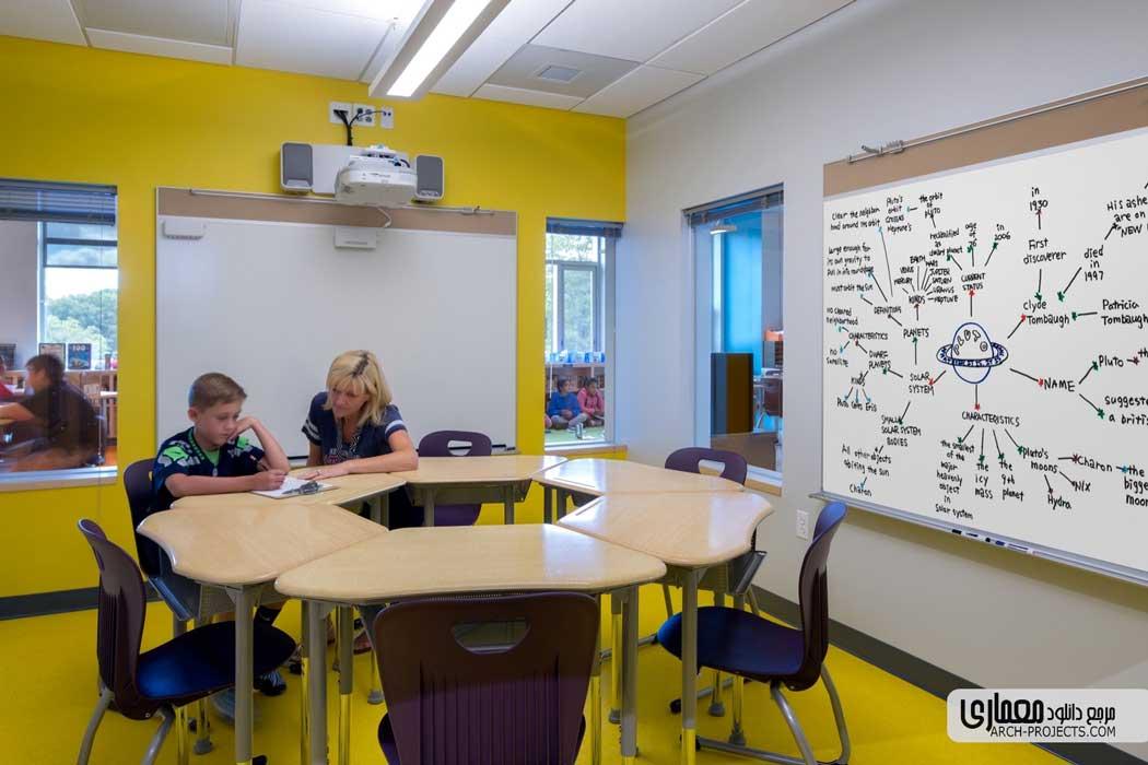 طراحی مدرسه ابتدایی Woodland