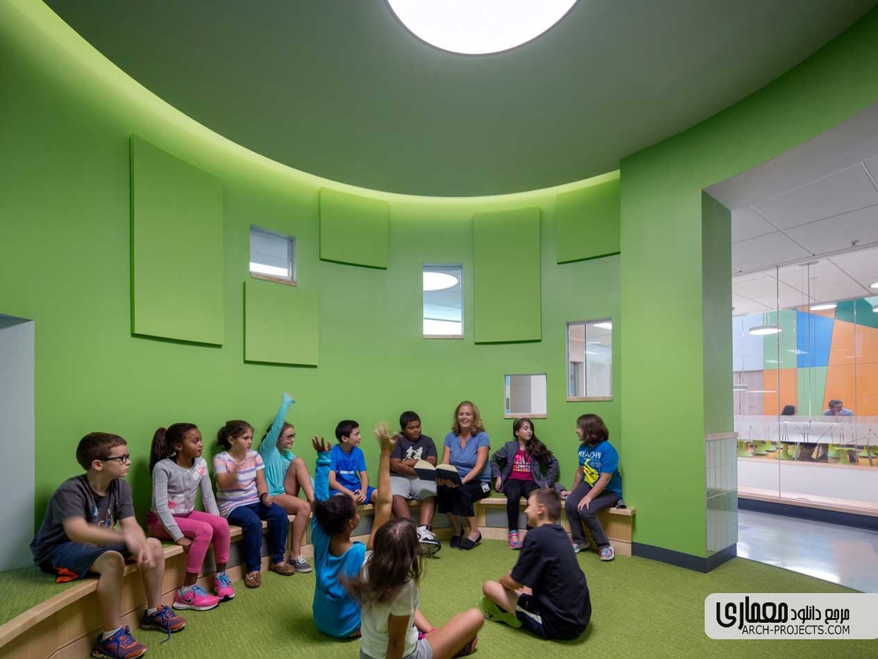 طراحی داخلی مدرسه ابتدایی Woodland