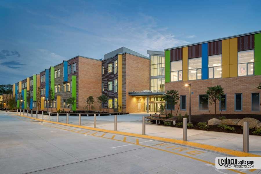 معماری مدرسه ابتدایی Woodland