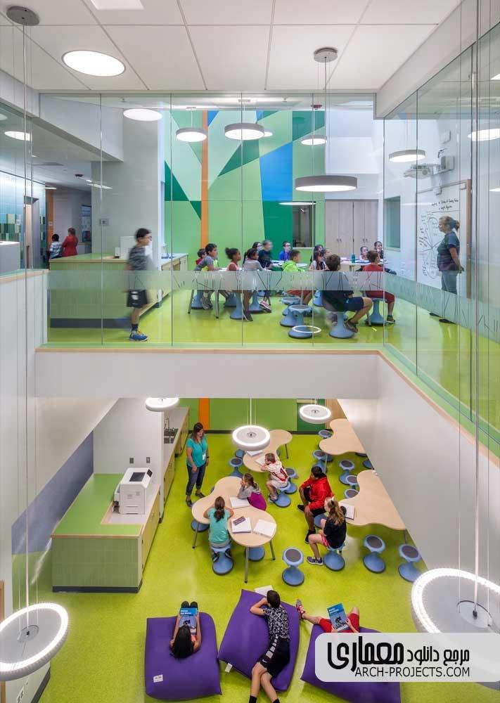 طراحی داخلی مدرسه ابتدایی