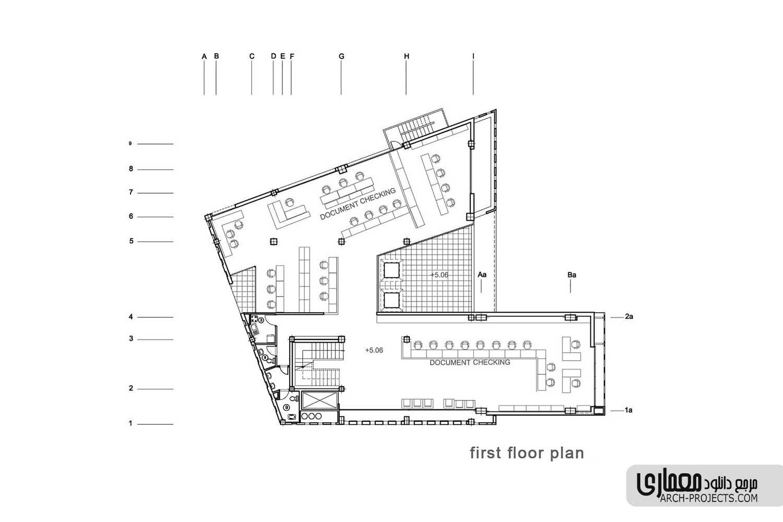 پلان ساختمان نظام مهندسی قزوین