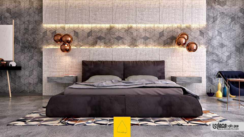 7 اتاق خواب با دیوار های خاص
