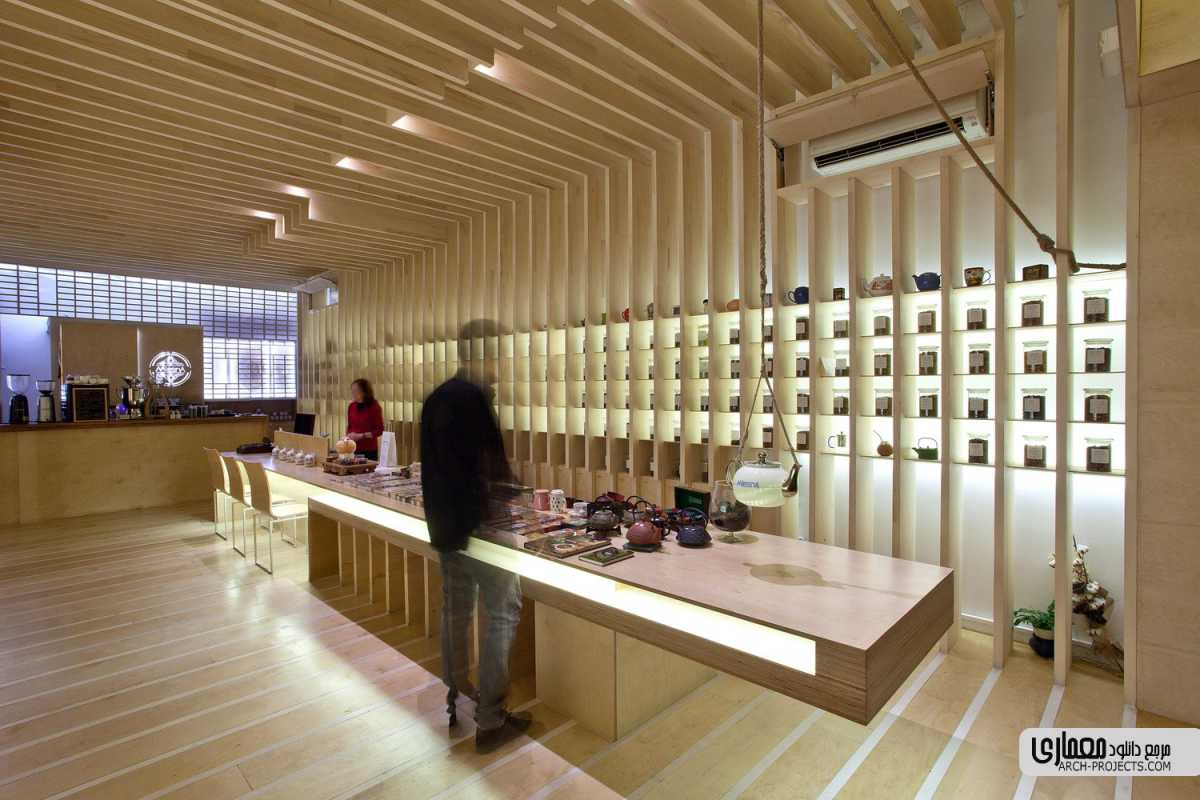 طراحی قهوه خانه To Tsai