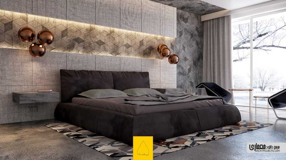 اتاق خواب با دیوار های خاص