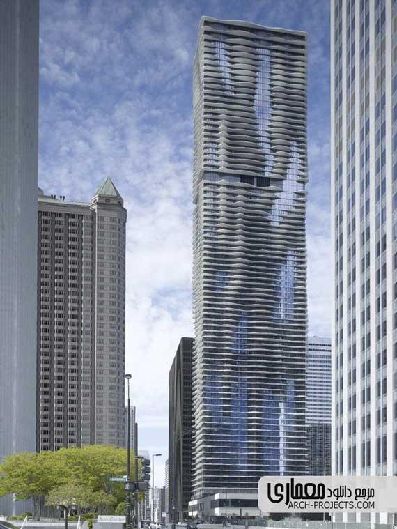 طراحی برج Aqua
