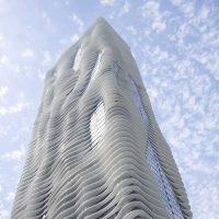 طراحی برج Aqua هتلی به شکل مایع