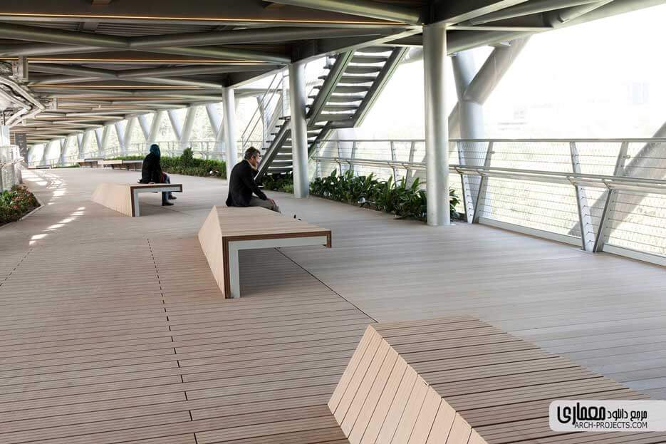 معماری پل طبیعت تهران