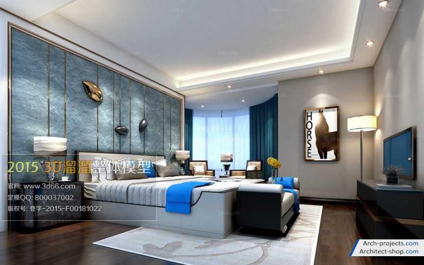 دانلود مدل سه بعدی اتاق خواب مدرن