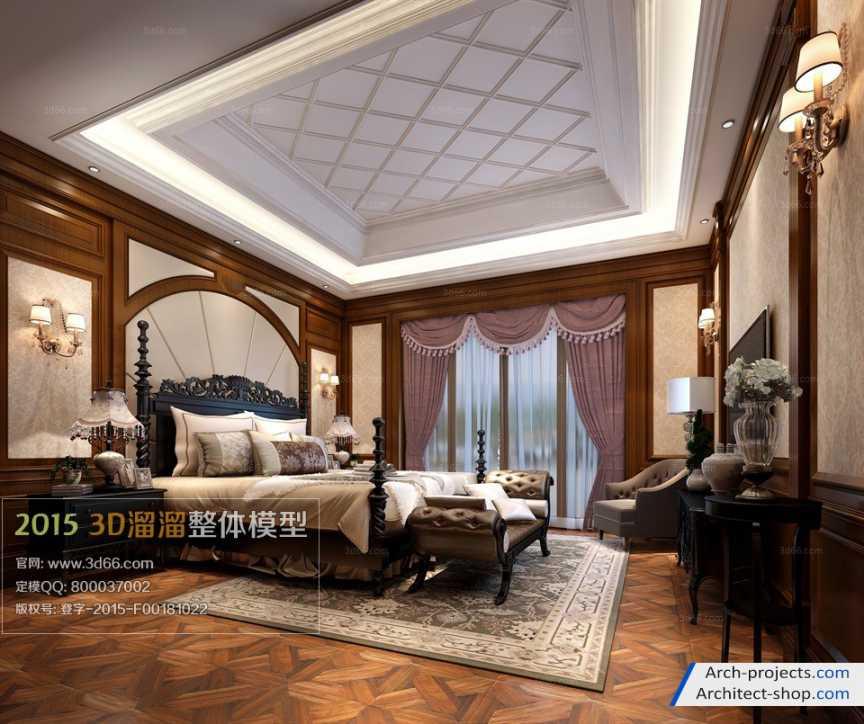 اتاق خواب به سبک اروپای