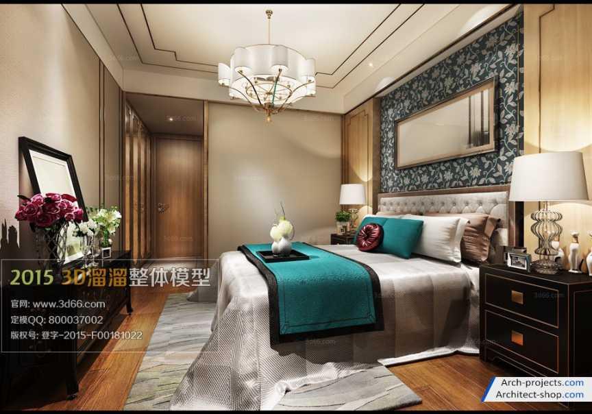 آبجکت اتاق خواب کلاسیک